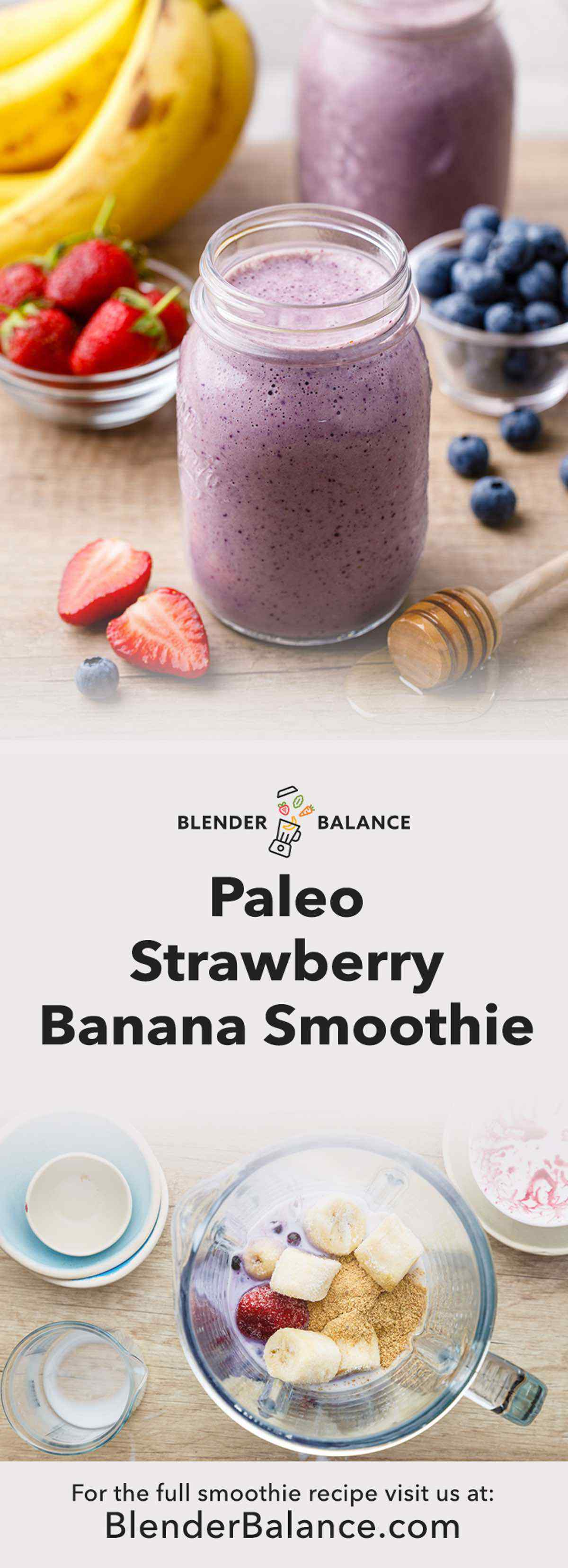 Strawberry Banana Paleo Smoothie