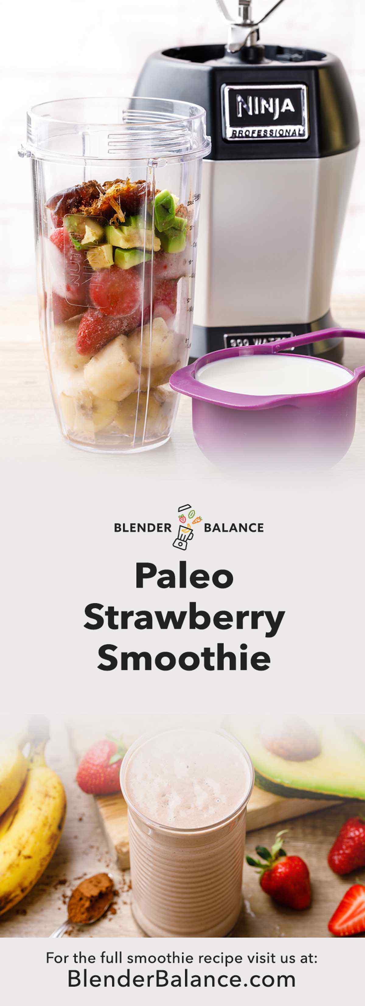 Paleo Strawberry Smoothie