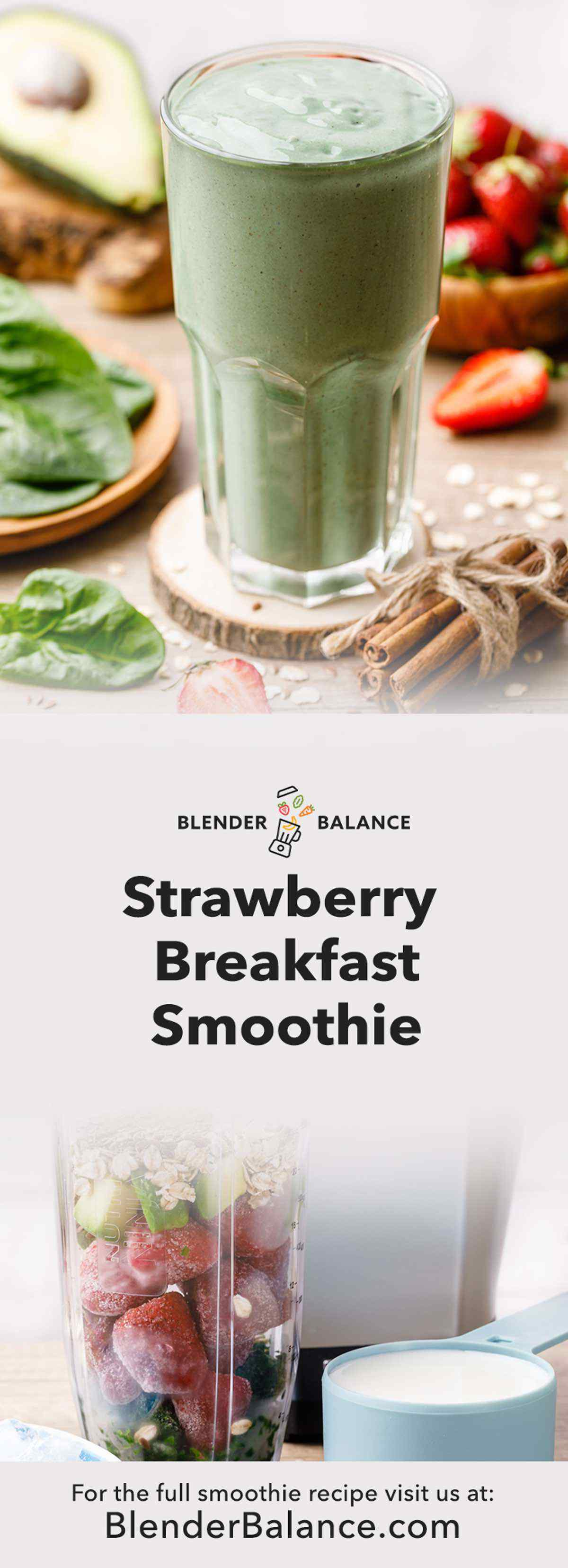 Oatmeal Strawberry Breakfast Smoothie