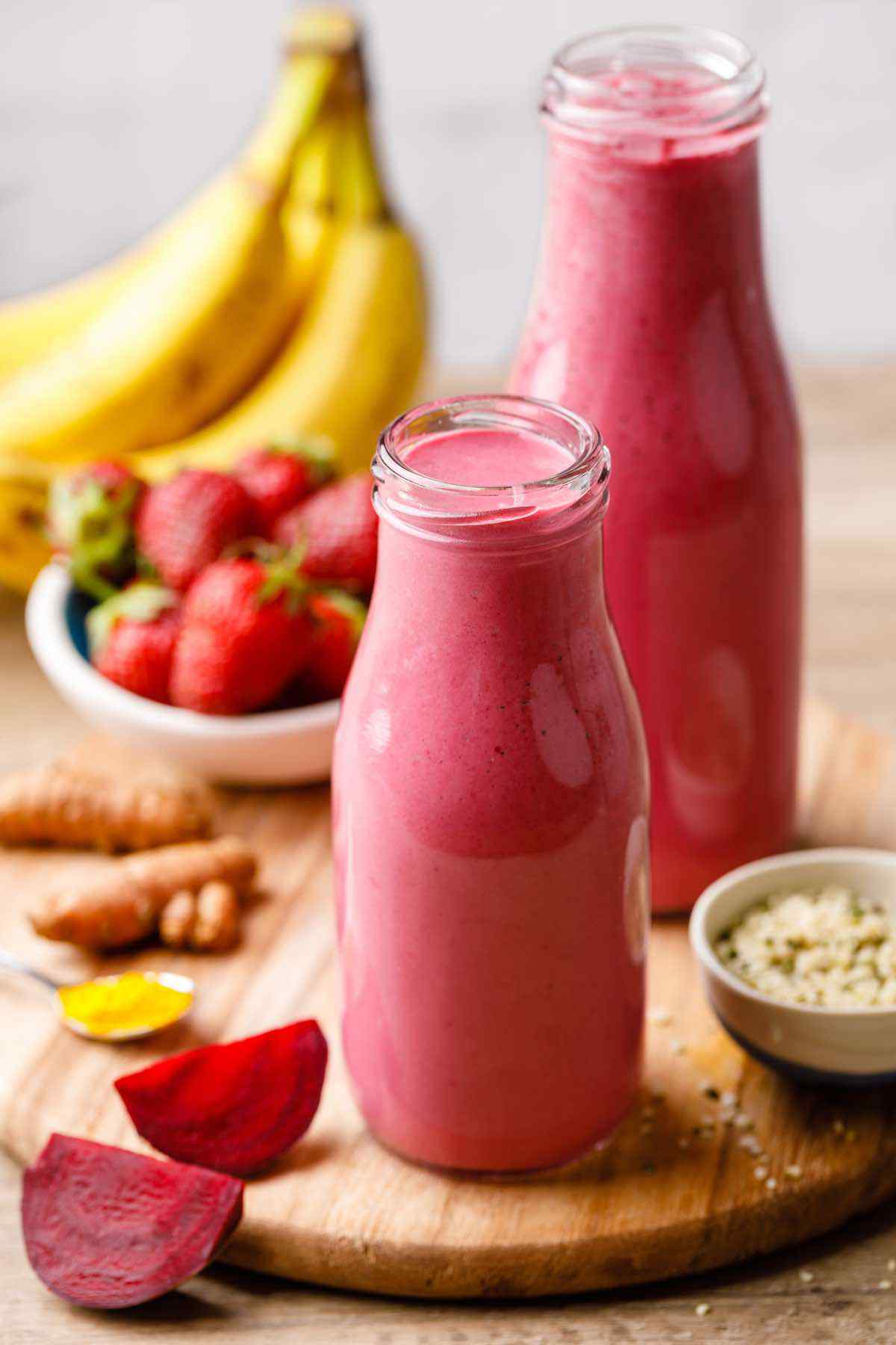 Strawberry Banana Detox Smoothie