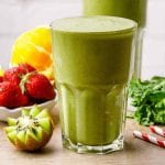 Kale Strawberry Sunrise Paleo Smoothie for Glowing Skin