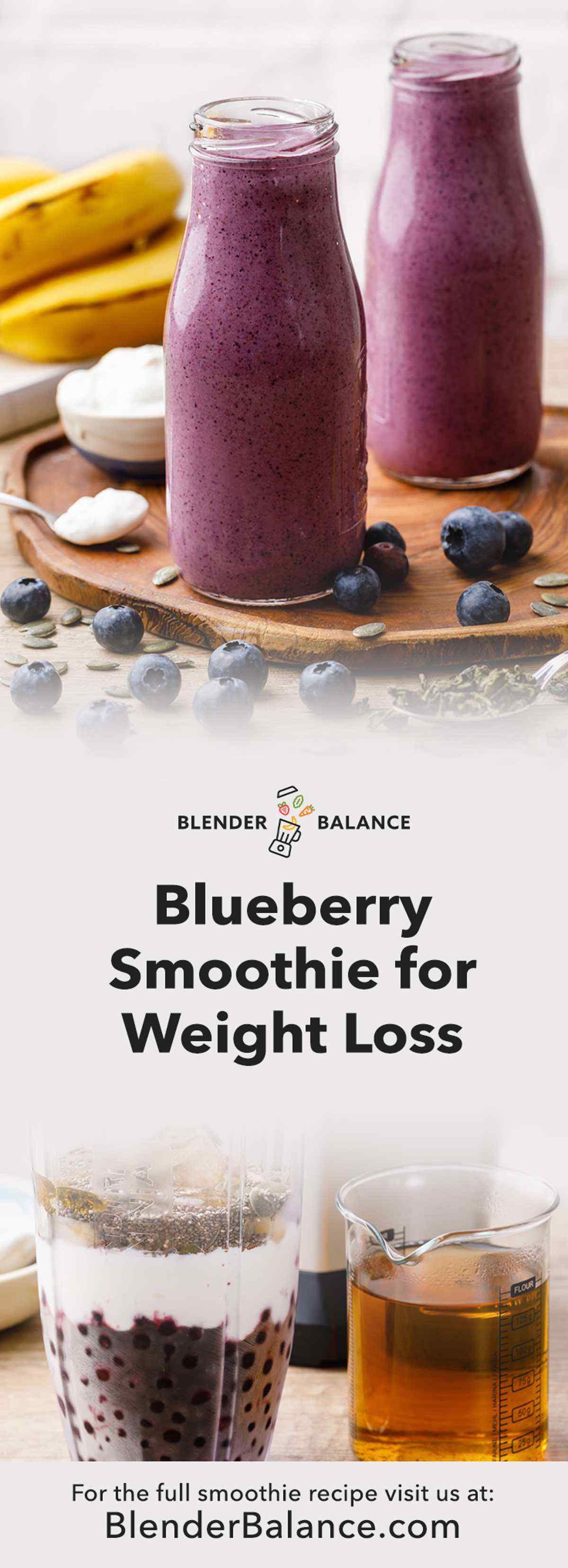 Easy Blueberry Smoothie for Weight Loss