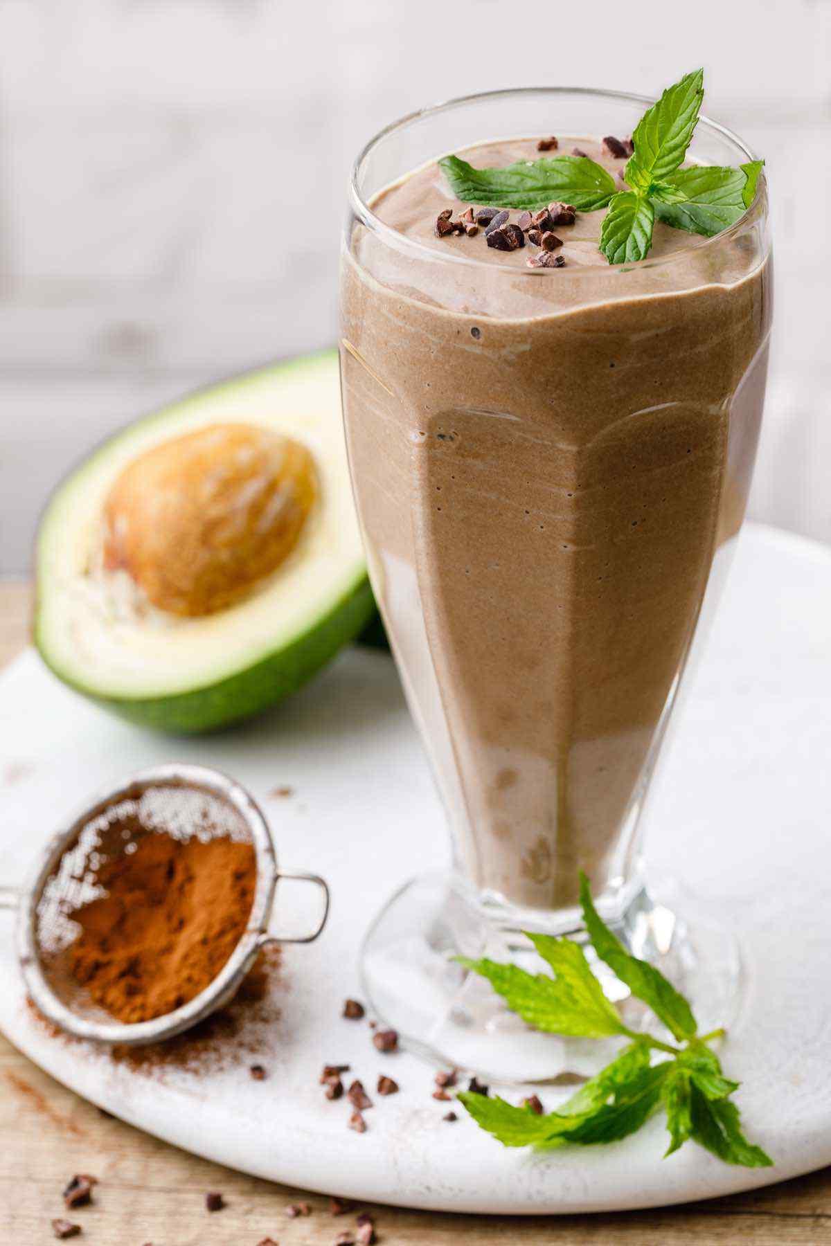 Chocolate Avocado Paleo Smoothie