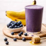 4-Ingredient Banana and Blueberry Smoothie