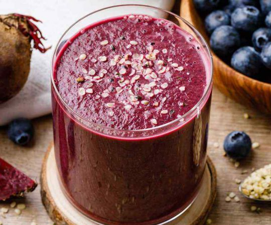 Blueberry Detox Smoothie to Heal Your Toxic Gut