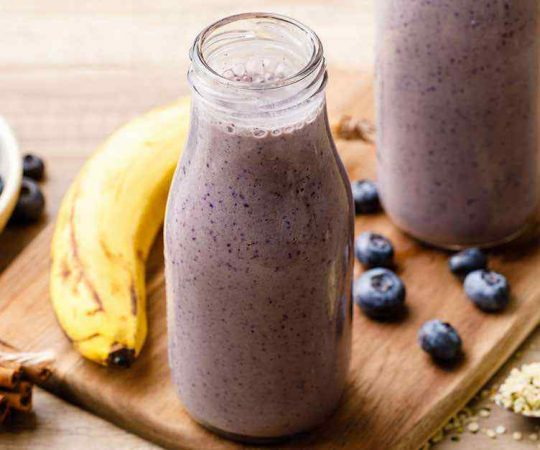 Paleo Blueberry Banana Smoothie