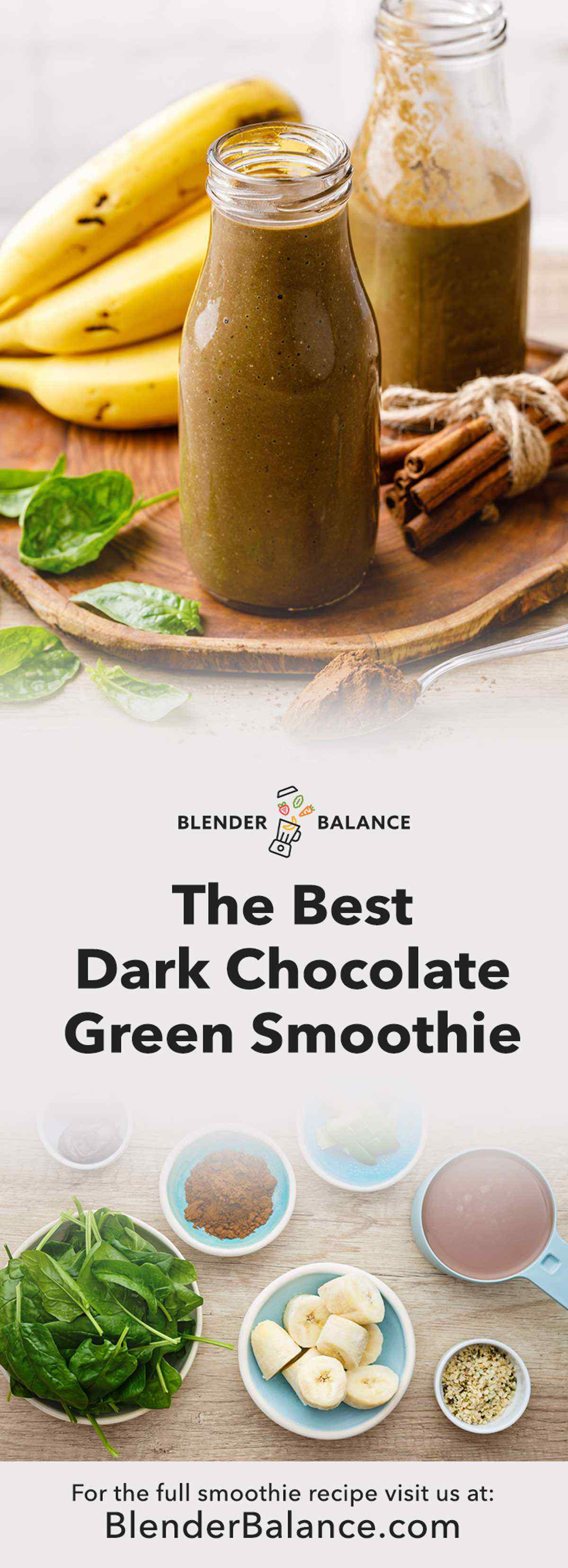 Dark Chocolate Green Smoothie
