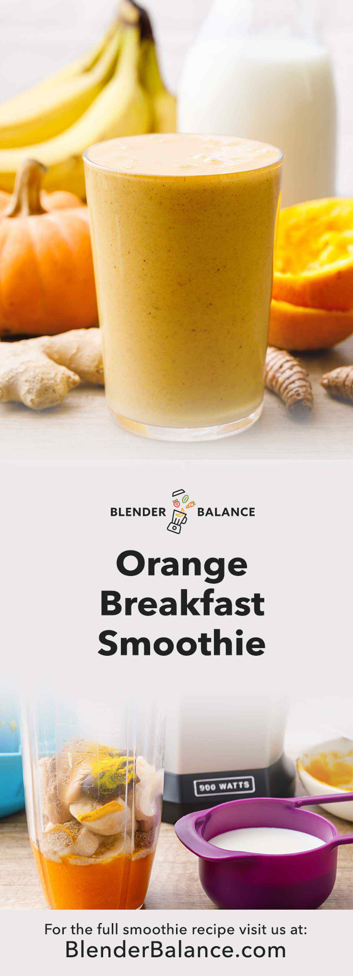 Orange Breakfast Smoothie