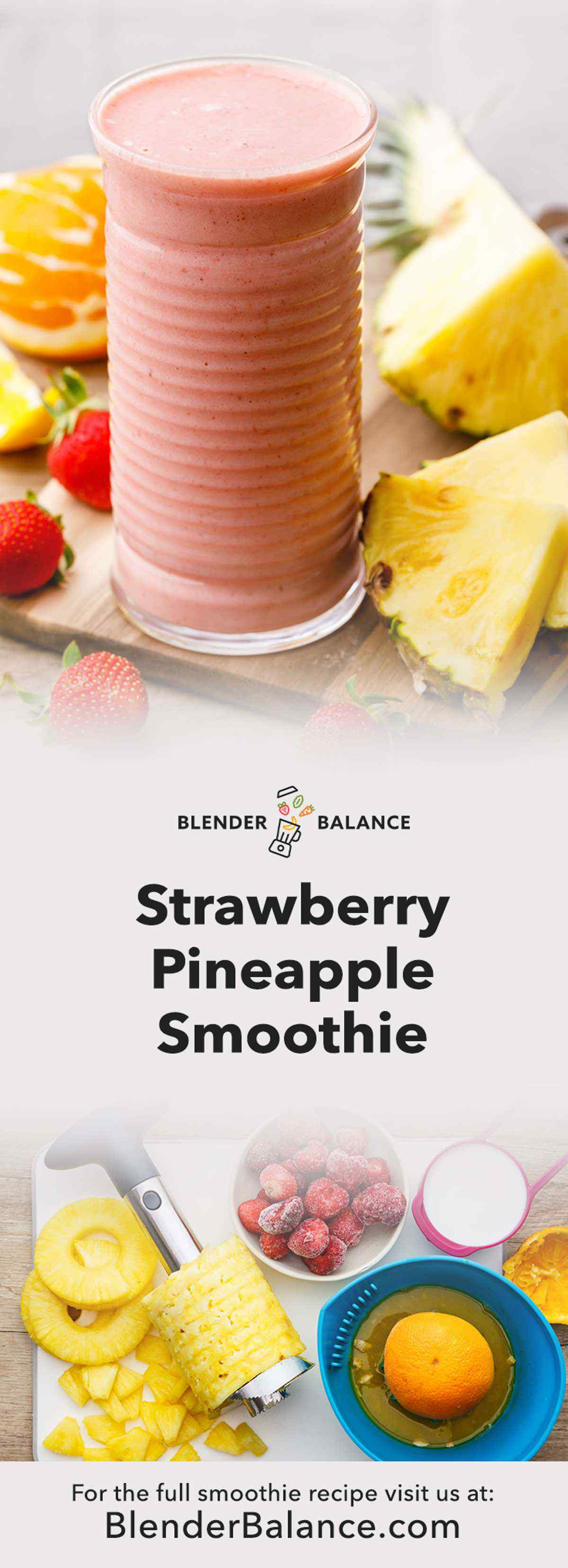 Paleo Strawberry Pineapple Smoothie