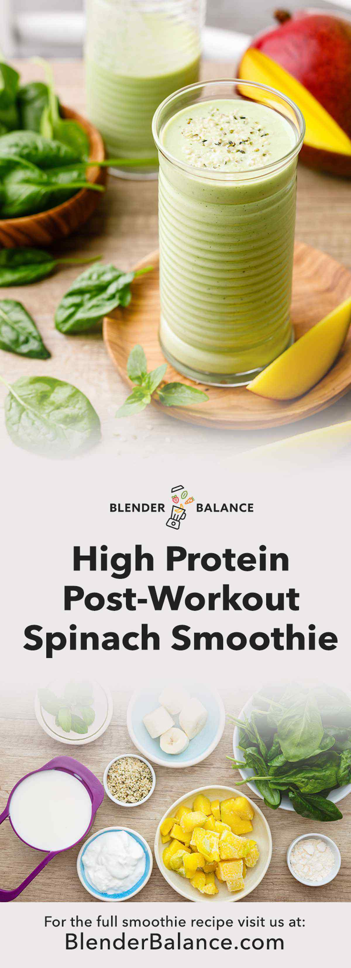 High Protein Spinach Smoothie for After Workout Recovery