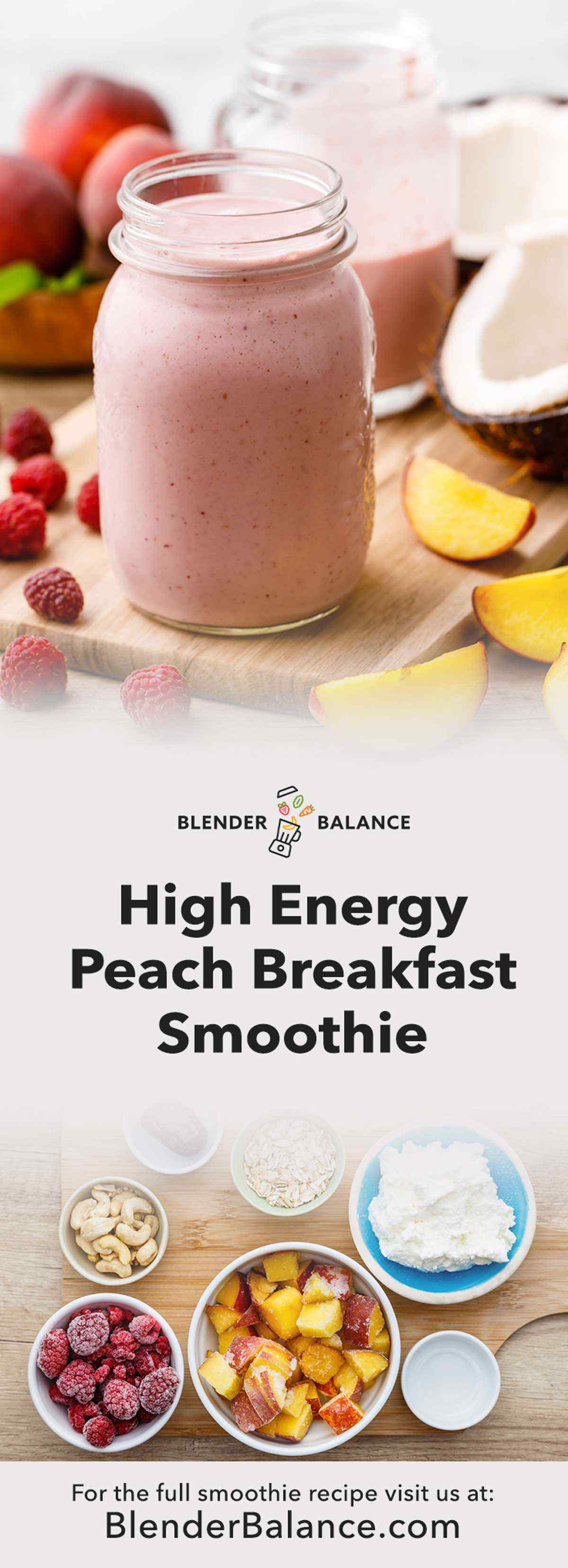 Peach Breakfast Smoothie
