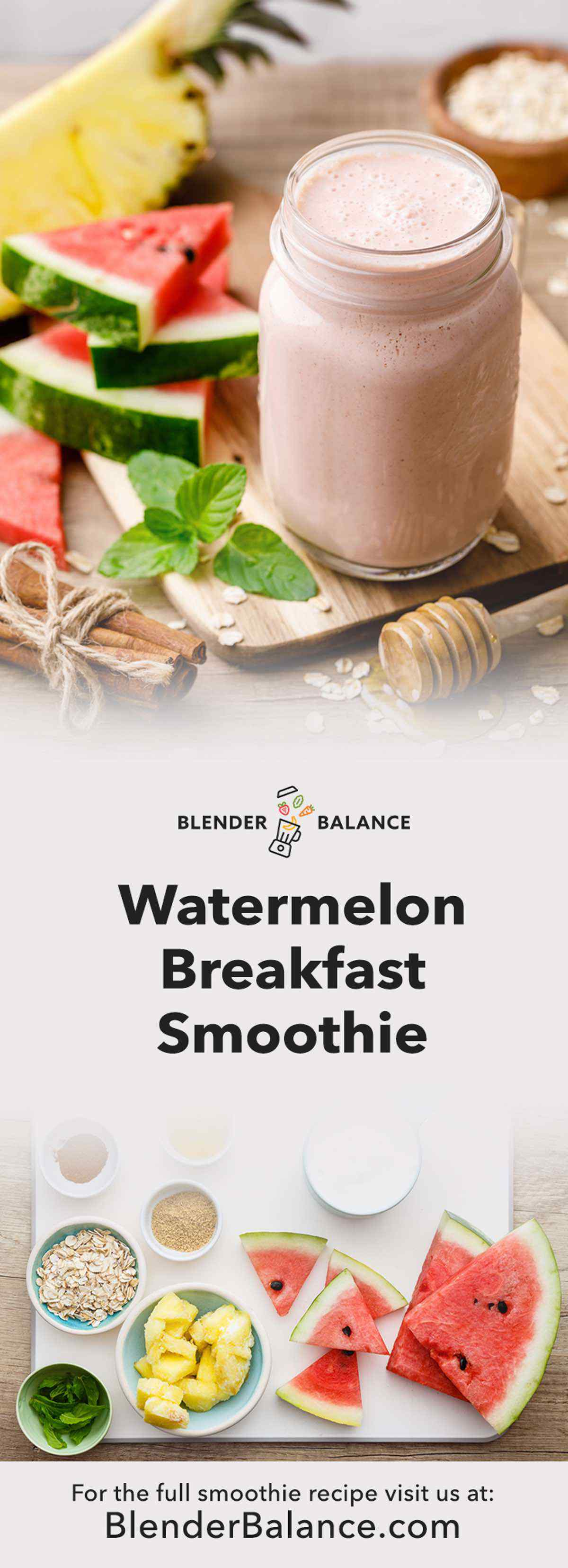 Watermelon Breakfast Smoothie