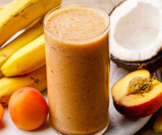 Paleo Peach Smoothie to Curb Cravings